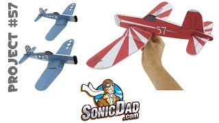 getlinkyoutube.com-Make a Foam Airplane that is Better Than Balsa Wood! SonicDad Project #57 - the F4U Corsair