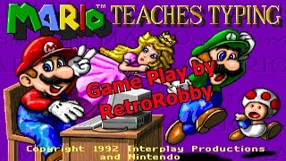Mario Teaches Typing (1992) - RetroRobby Game Play Video