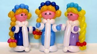 getlinkyoutube.com-Снегурочка из шаров / Snow Maiden of balloons (Subtitles)