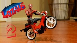 getlinkyoutube.com-SPIDERMAN Stop Motion Action Video Part 2