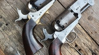 getlinkyoutube.com-Original Colt 1851 Navy vs Uberti repro