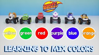 getlinkyoutube.com-Blaze and the Monster Machines Learn Colors and Counting Skittles | Mixing Color Learning Video