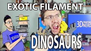 getlinkyoutube.com-3D Printing Exotic Filament Dinosaurs