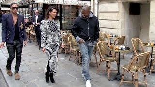 getlinkyoutube.com-EXCLUSIVE - Kim KARDASHIAN and KANYE West in LOVE in PARIS