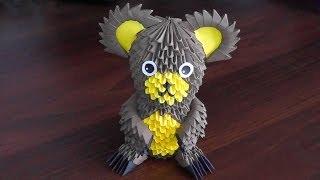 getlinkyoutube.com-3D origami bear (Bruin, teddy-bear, grizzly bear) assembly diagram (Tutorial)