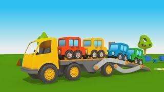 getlinkyoutube.com-Cartoni Animati per Bambini - Leo il Camion Curioso: come fare il camion bisarca?