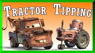 getlinkyoutube.com-Disney Cars Mater Tractor Tipping At Night Full Length English Game Episode 2014