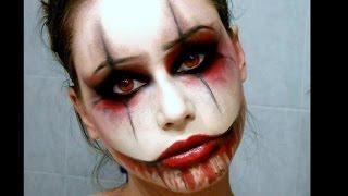 getlinkyoutube.com-SEXY CREEPY CLOWN - Halloween Makeup
