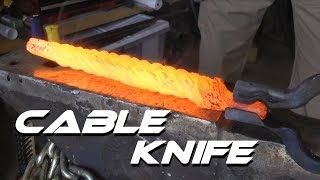 getlinkyoutube.com-Forging a Knife From Cable