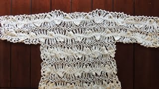 getlinkyoutube.com-Crochet y Horquilla : Elegante Bluson.  Parte 1