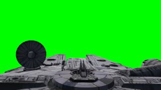 "getlinkyoutube.com-star wars millenium falcon with moving radar and gun in flight - ""Chroma Key Effects"""