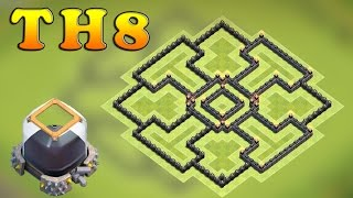 "Clash of clans (CoC) | Best Town hall 8 (TH8) Dark Elixir Base ""Protect 100% Dark Elixir"""