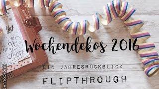 getlinkyoutube.com-Filofaxing Wochendekos 2016 Flipthrough | Jahresrückblick | deutsch | filolove_