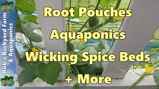 getlinkyoutube.com-Root Pouches Aquaponics Wicking Spice Beds + More