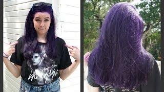 getlinkyoutube.com-How to Dye Your Hair Purple (NO BLEACH)!!!!