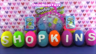 getlinkyoutube.com-Shopkins Limited Edition Hunt Playdoh Surprise 5 Pack Shopkins Mystery Baskets Princess Anna Frozen