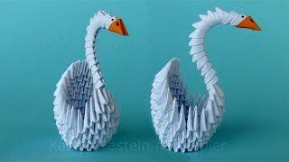 getlinkyoutube.com-Origami Schwan falten - Basteln mit Papier - DIY Geschenkideen - Bastelideen - 3D