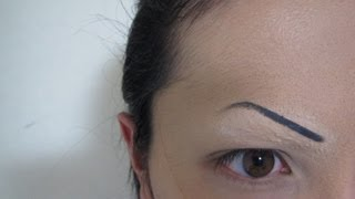 getlinkyoutube.com-パワフル眉毛消し方法(化粧)Powerful Eyebrow Covering Tutorial