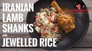 getlinkyoutube.com-Iranian Lamb Shanks with Jewelled Rice   Everyday Gourmet S6 E81