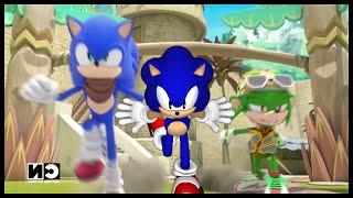 getlinkyoutube.com-Sonic Boom Sonic Vs Modern Sonic Vs Classic Sonic