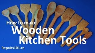 Wooden Kitchen Tools - How To Make Homestead Style