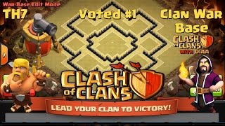 getlinkyoutube.com-Clash Of Clans l TH7 Hybrid l Trophy l Clan War Base With Air Sweeper (Working Traps)