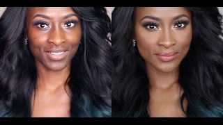 getlinkyoutube.com-Updated Foundation, Contouring & Highlighting Routine | Hyperpigmentation & Acne Prone Skin