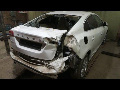 Volvo S60.Обзор повреждений кузова и запчастей