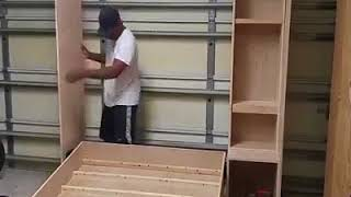 DIY Murphy Bed Build - Wall Bed Hack Without The Hardware Kit width=