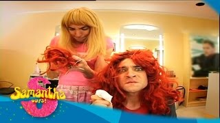 getlinkyoutube.com-Samantha Oups ! Samantha se recoiffe au salon de coiffure