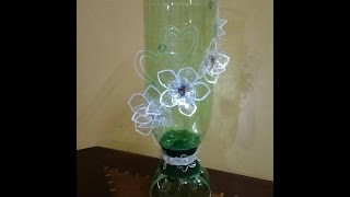 Best Out Of Waste Plastic Bottles transformed to very elegant glass showpiece