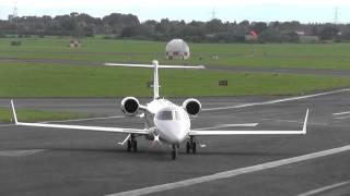 getlinkyoutube.com-Learjet 45 M-MRBB Awesome landing and takeoff - Gloucestershire Airport