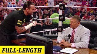 CM Punk negotiates his contract with Mr. McMahon width=