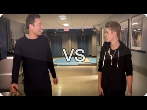 Jimmy Fallon Vs Justin Bieber late Night With Jimmy Fallon