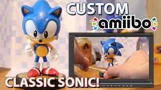 "How to Create a ""Classic Sonic"" Custom Amiibo (Simple Sonic Amiibo Mod / Fan Made Tutorial)"