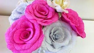 getlinkyoutube.com-Como fazer flores de papel crepom