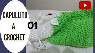 getlinkyoutube.com-Como tejer capullo de bebè en crochet.
