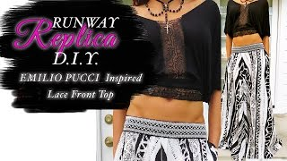 getlinkyoutube.com-DIY EMILIO PUCCI GYPSY STYLE Lace Runway Top-Beginner Level