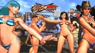 getlinkyoutube.com-Street Fighter x Tekken Lili/Cammy vs Julia/Asuka PC Mod