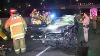 getlinkyoutube.com-Female Driver Killed in Crash / Lynwood   RAW FOOTAGE