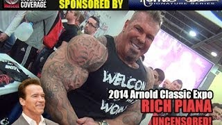 getlinkyoutube.com-Rich Piana, Uncensored! At The Love it Kill It Booth, Arnold Classic Expo 2014!