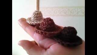 getlinkyoutube.com-how to knitting hat ☆帽子の編み方☆cotton100%でミニチュア帽子