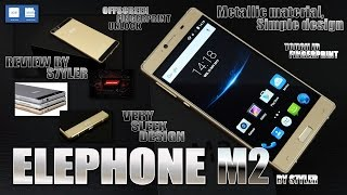 getlinkyoutube.com-Elephone M2 Gold (Review) Front Fingerprint ID, Thin Unibody Design - Video by s7yler