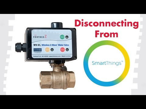 How To Exclude Devices From SmartThings: FortrezZ Wireless Water Valve