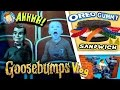 GOOSEBUMPS Movie  Worlds Largest Gummy Worm OREO Sandwich  Baby Names & More FUNnel Vision Vlog