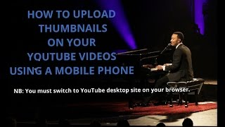 getlinkyoutube.com-How to upload your thumbnails(images) on your YouTube videos using your mobile phone