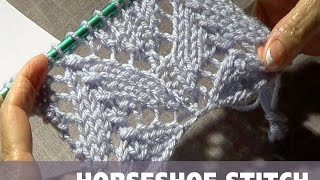 getlinkyoutube.com-Knitting Horseshoe Lace Stitch (CC)