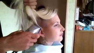 getlinkyoutube.com-Sexy Russian Girl Shaves her Head Bald Part 2