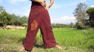 getlinkyoutube.com-How to Tie - Thai Fisherman Wrap Pants