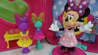 getlinkyoutube.com-Minnie Mouse Bow-tique Tienda-maletín de Minnie Minnie's Fashion On-the-Go - Juguetes de Minnie
